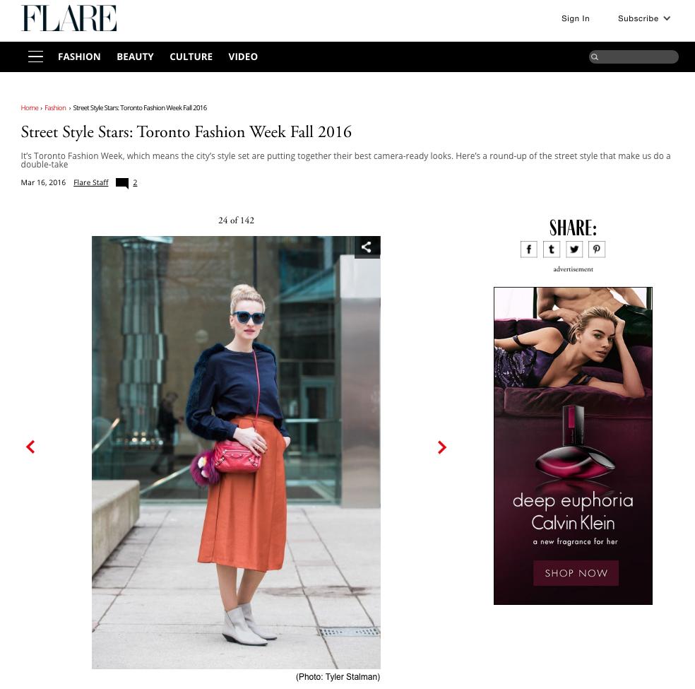 Street Style Stars Toronto Fashion Week Fall 2016 Mon Mode