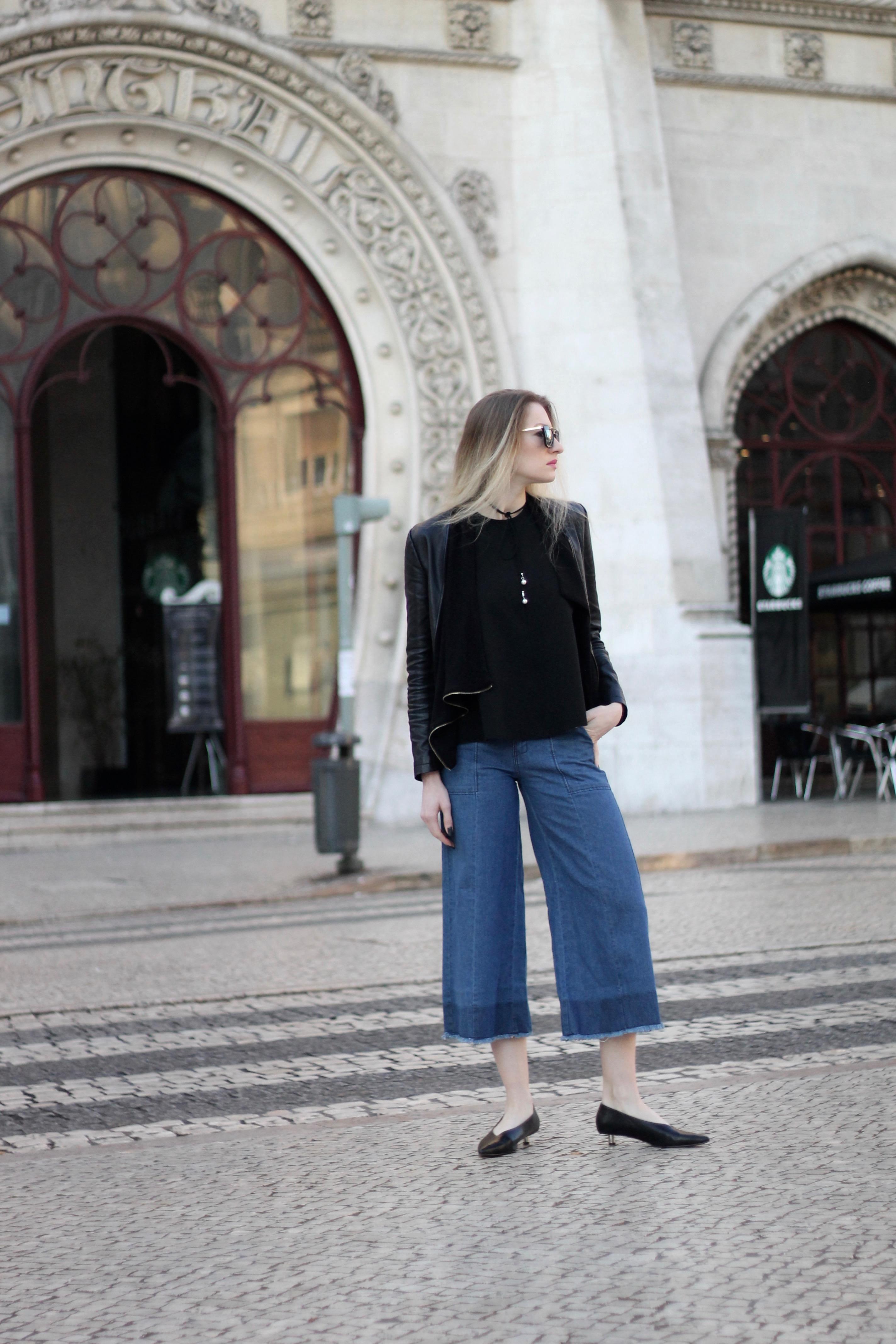 MON MODE / Fashion Blogger / Denim Culottes / Lisbon, Portugal