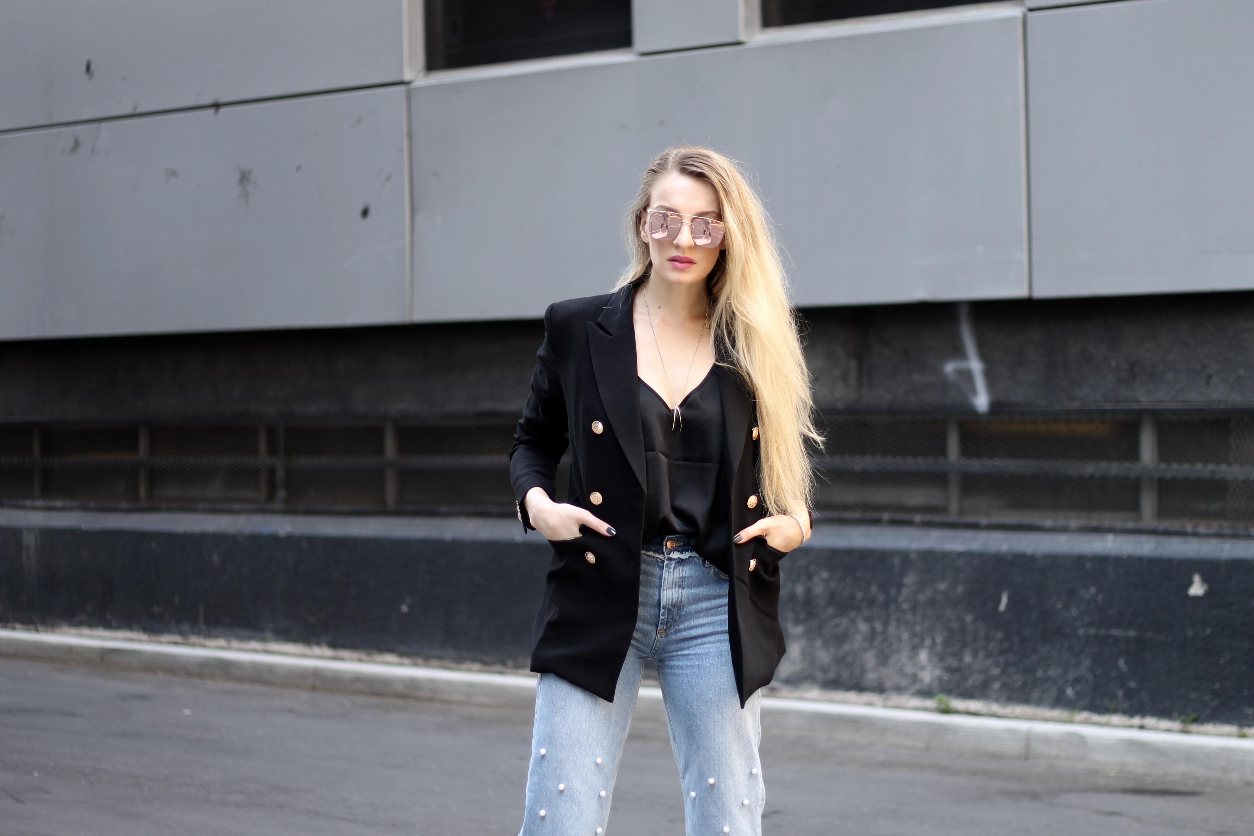 MON MODE | Fashion Blogger | Fashion Blog | Toronto Blogger | DIY Pearl Denim