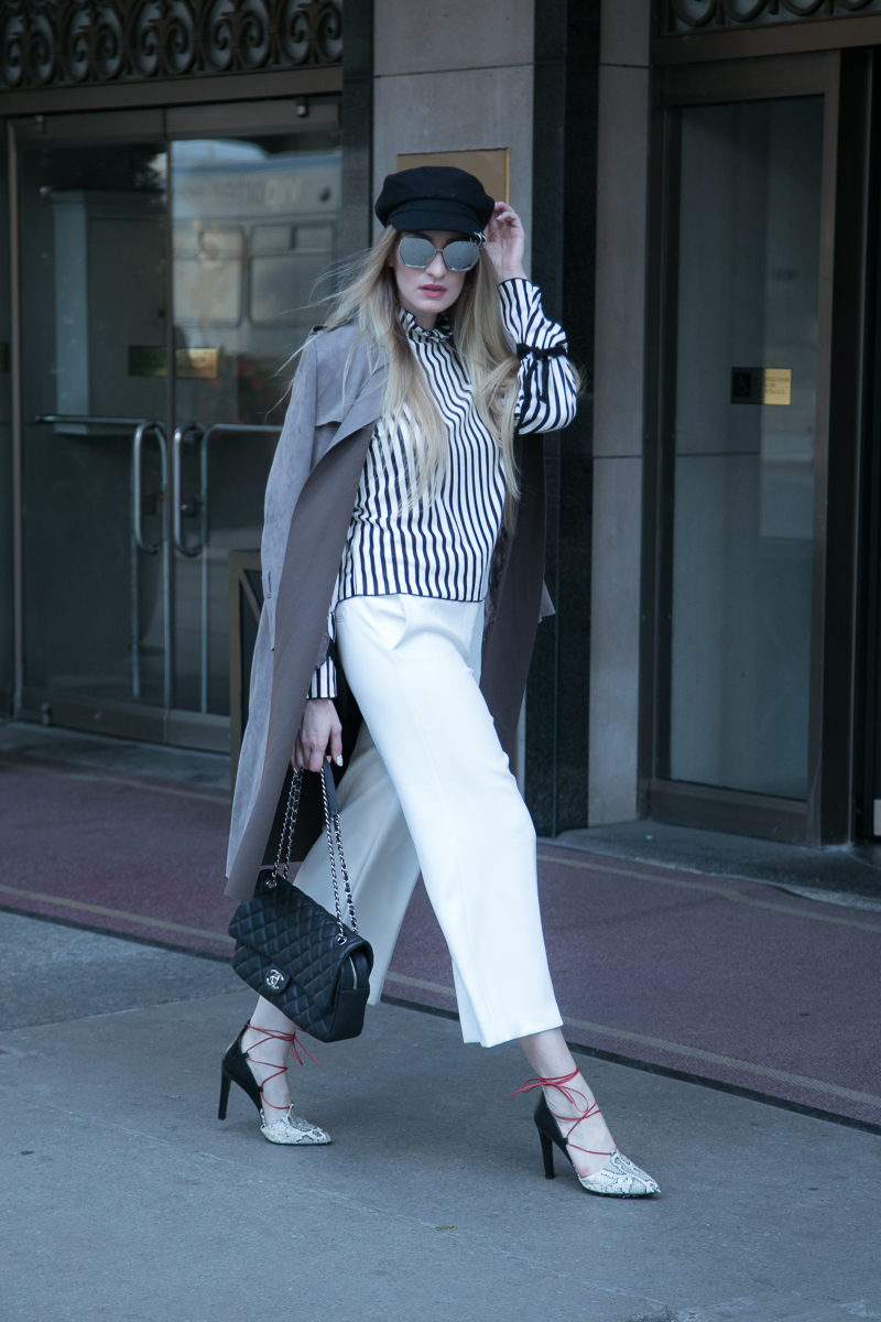 MON MODE / Fashion Blogger / Toronto Blogger | Fairmont Hotel | Newsboy Hat | Fall Trends